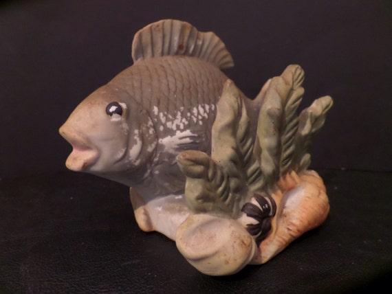 Vintage Aquarium Fish Statue Japan Aquarium Tank Home Garden Etsy