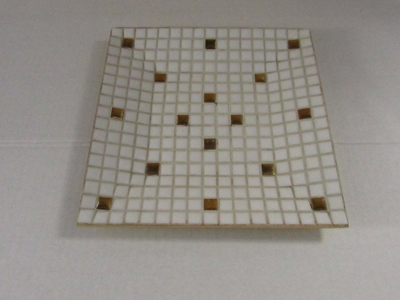 Vintage Mosaic Tile Ashtray Tile Design Retro Atomic Ashtray Smoking Tobacciana Clean
