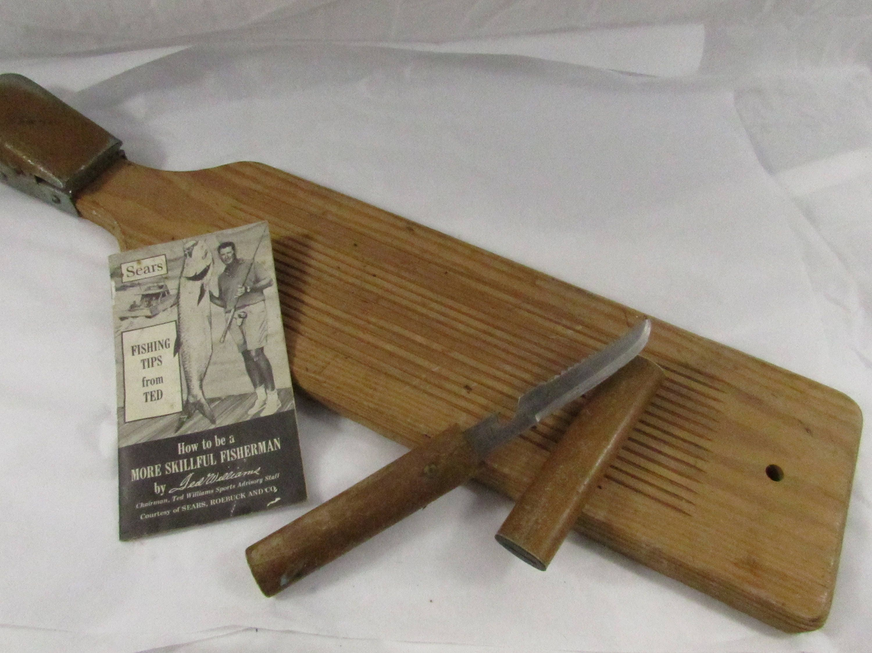Vintage Wooden Fish Scaler Board Scaling Knife Japan Mid | Etsy