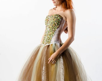 Custom Swarovski Crystal Corset Dress Wedding Prom Evening Gown
