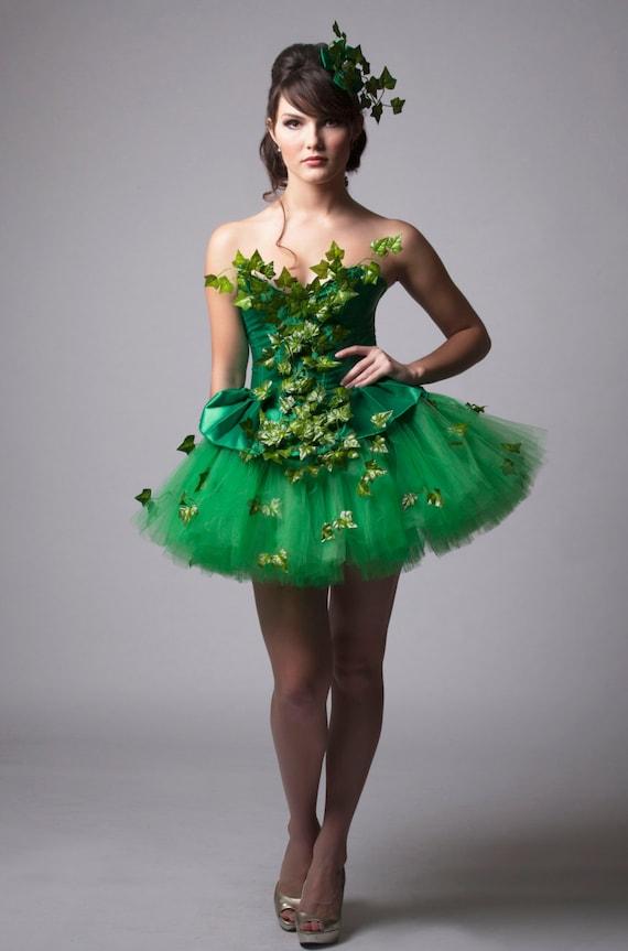 image 0  sc 1 st  Etsy & Custom Poison Ivy Green Dress Costume Prom Halloween Costume | Etsy