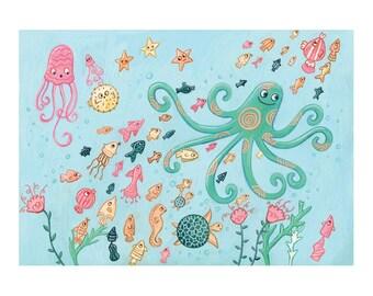 An Ocean Print