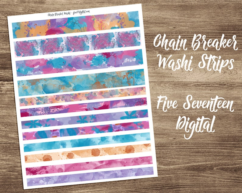 Printable Washi Tape  Washi Tape Strips to Coordinate with image 0