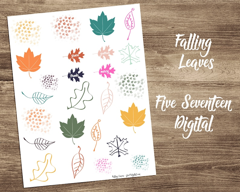 Bible Journaling Printable with Leaves  Color Coordinated for image 0