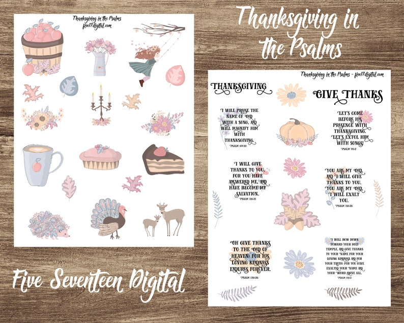 Bible Journal Printable Journaling Kit Thanksgiving image 0