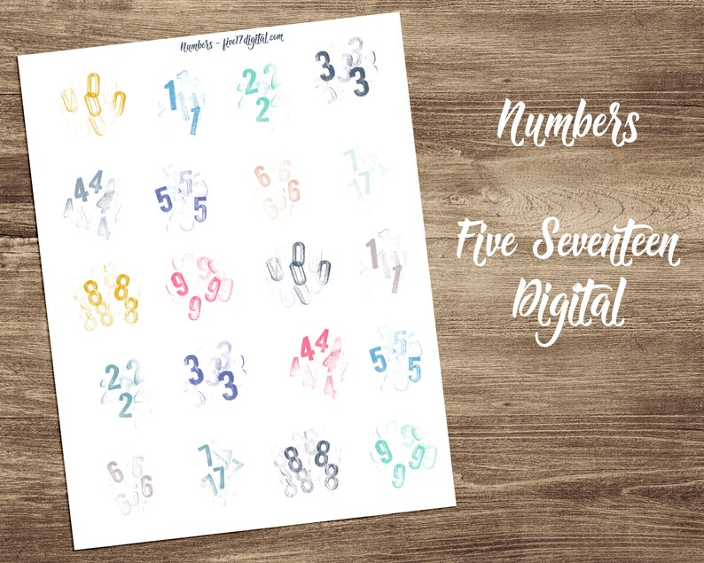 Bible Journaling Printable with Stamped Numbers  Color image 0