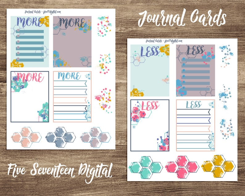 Journal Cards for Bible Journaling  Printable Kit  Color image 0