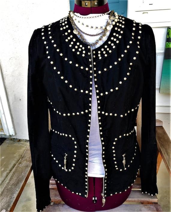 Silver Studded Jacket, Super Cool Jacket, Mod Jack