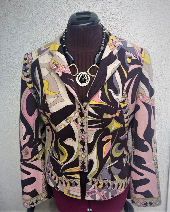 Fabulous  Jacket, 90's Jacket, Geometric Jacket, C