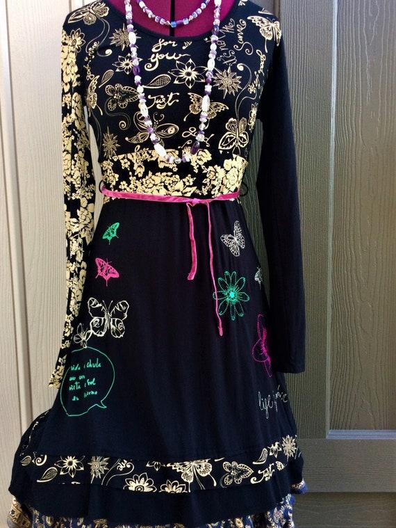 Desigual Design, Desigual Dress, Decorated Dress,