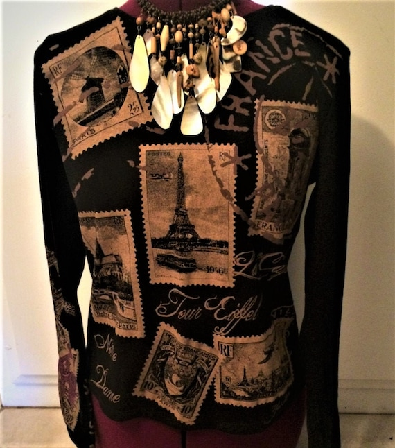 Parisian T Shirt, Notre Dame T Shirt, Classy French T, French T Shirt, Notre Dame Souvenir, Artistic T Shirt