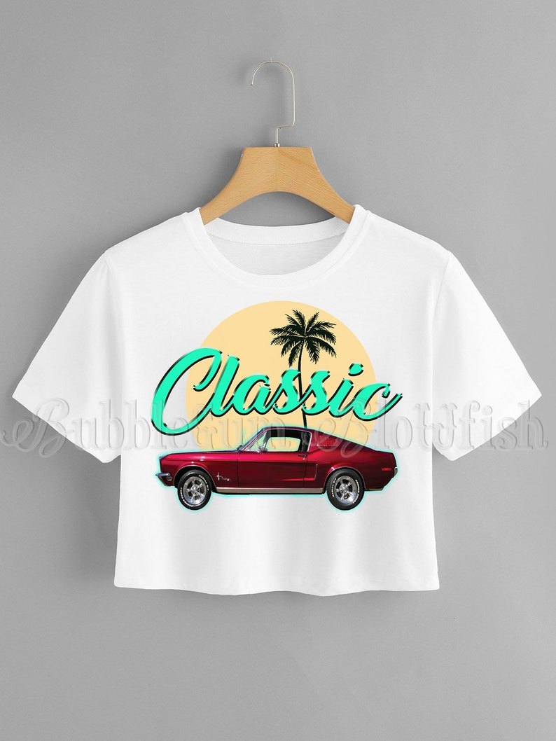 Classic vintage red mustang shirt design file  Digital Download  clipart TSHIRT  DIY not physical item