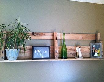 Pallet Shelf - Hanging Pallet Shelf - Pallet Wall Decor - Pallet Shelf Display