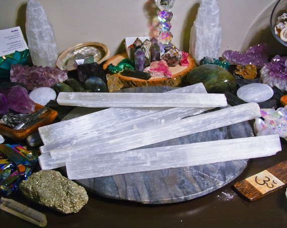 Selenite Wand Crystal Decor - 1 piece