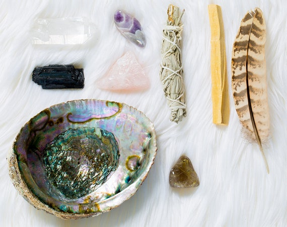 Smudge kit - Love and Protection spells - Crystal Decor