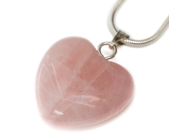 Rose Quartz Heart Pendant Necklace -- Goddess Venus Vibes -- Heart Chakra Rose Quartz Crystal