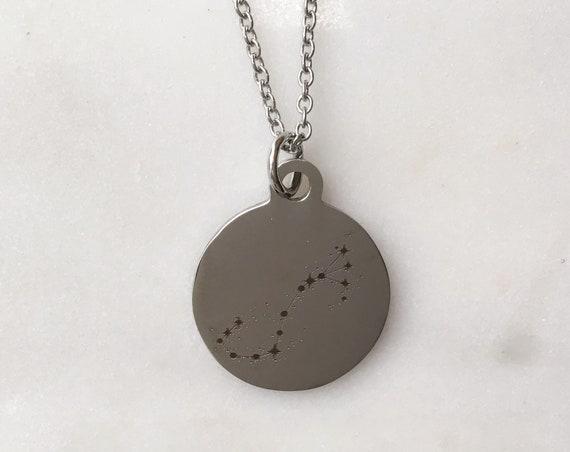 Zodiac Constellation Scorpio Charm Necklace | Stars + Celestial Jewelry