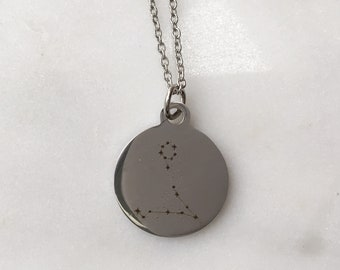 Zodiac Pisces Constellation Charm Necklace  | Stars + Celestial Jewelry