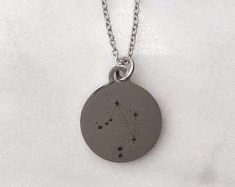 Zodiac Constellation Libra Charm Necklace | Stars + Celestial Jewelry