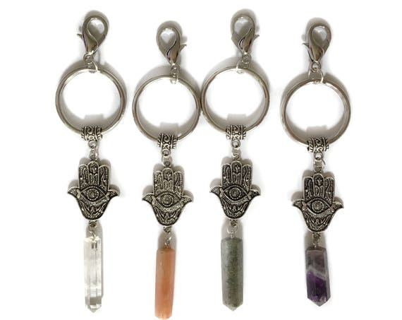 Hamsa Crystal Keychain or Zipper Charm