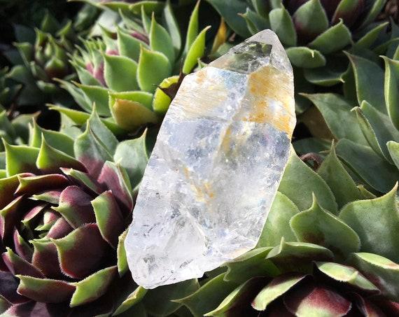 Tibetan Black Quartz  |  Double Terminated | Hematite Inclusions | Altar Stone