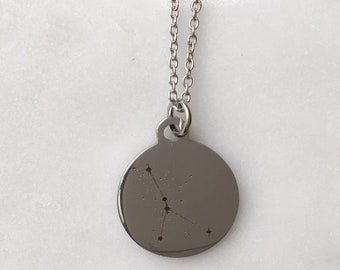 Zodiac Constellation Cancer Charm Necklace | Stars + Celestial Jewelry