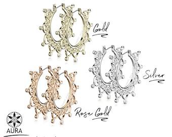 A Pair of Heart Filigree Hoop Inca Earrings | Rose Gold, Gold, or Silver