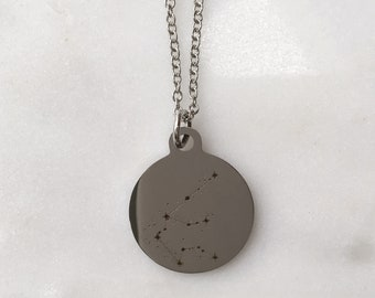 Zodiac Constellation Aquarius Charm Necklace