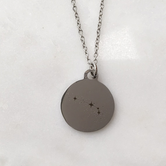 Zodiac Constellation Aries Charm Necklace | Stars + Celestial Jewelry