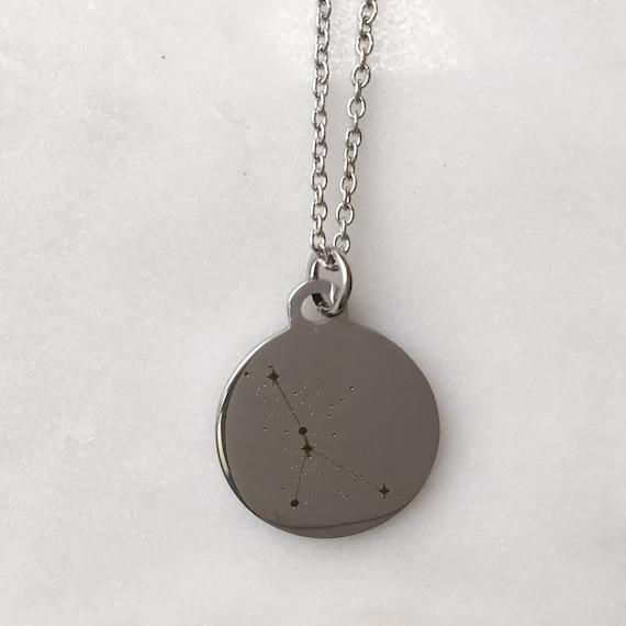 Zodiac Constellation Cancer Charm Necklace | Stars + Celestial Jewelry