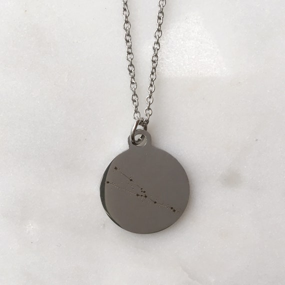 Zodiac Constellation Taurus Charm Necklace | Stars + Celestial Jewelry