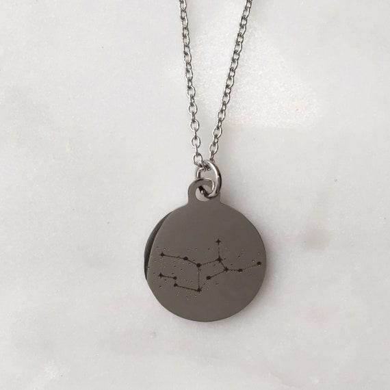 Zodiac Constellation Virgo Charm Necklace | Stars + Celestial Jewelry