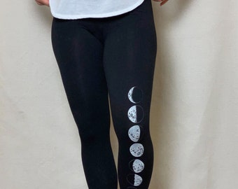 Womens High Waist Printed Doodle Space Moon Art Athletic Yoga Pant Leggings