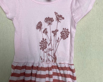 Seconds! 3-6 months Pink Queen Anne's Lace Dress (S-11)