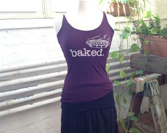 Racerback Tank with Baked Print