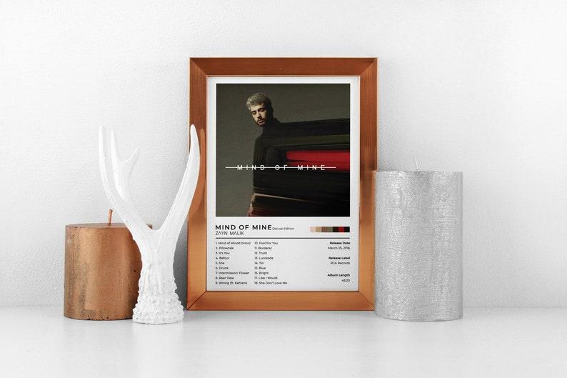 Zayn Malik Mind Of Mine Deluxe Edition Album Prints Poster