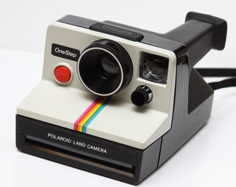Vintage Polaroid One Step Rainbow SX-70 Film Camera Made in USA Fully Operational