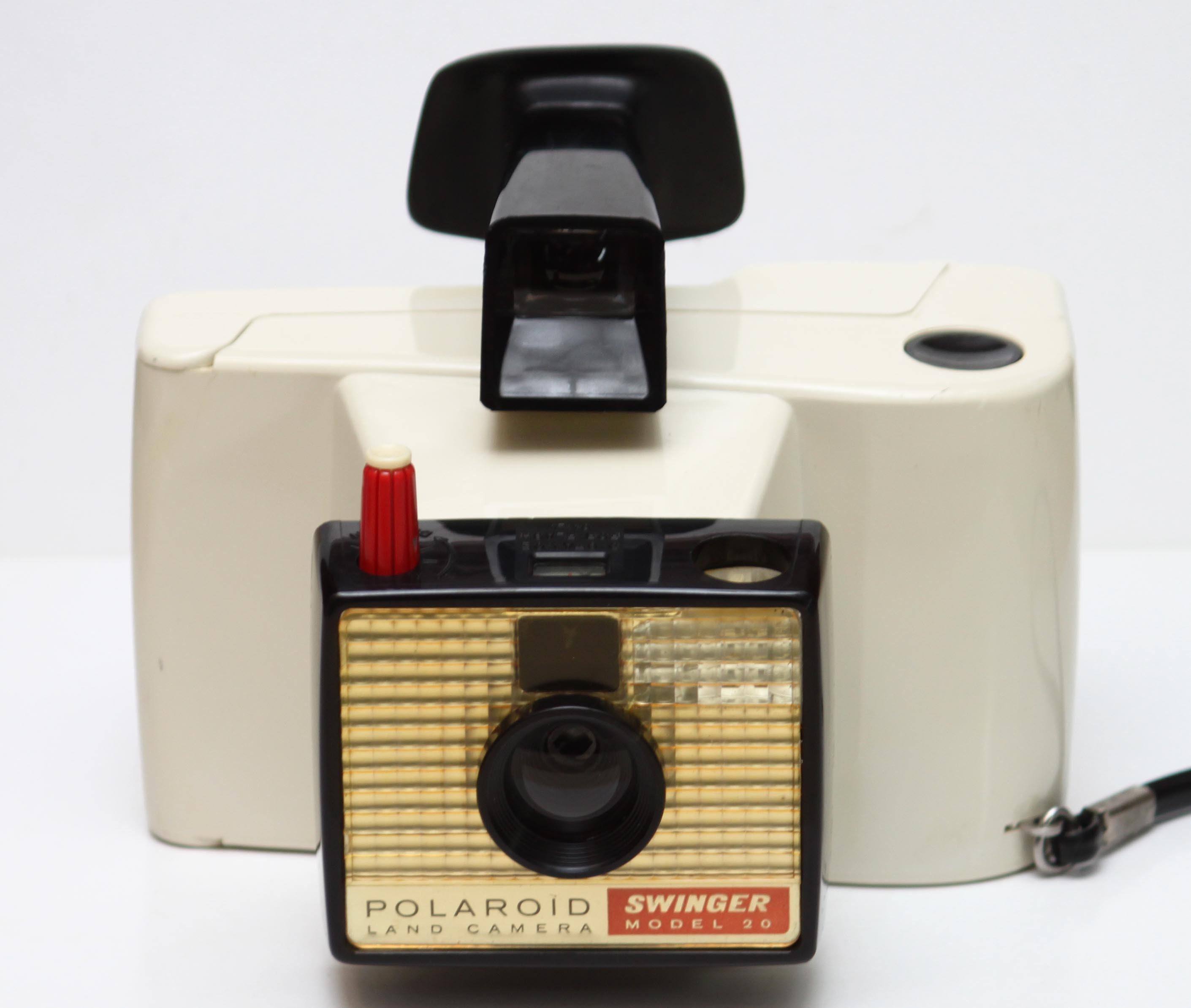 Model Land Movie: Vintage Polaroid Swinger Model 20 Instant Film Land Camera
