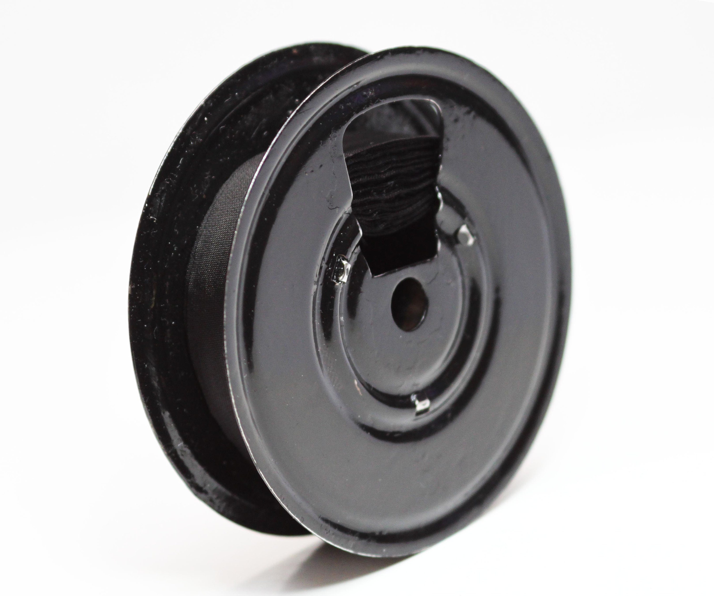 "VINTAGE 2-3//8/"" ROYAL TYPEWRITER METAL SPOOLS WITH NEW BLACK RIBBON TO RE-SPOOL"