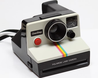 Classic Polaroid One Step Rainbow SX-70 Film Camera Made in USA 1970s Fully Operational