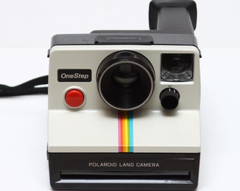 Classic Polaroid One Step Rainbow SX-70 Film Land Camera Made in USA 1970s Fully Operational