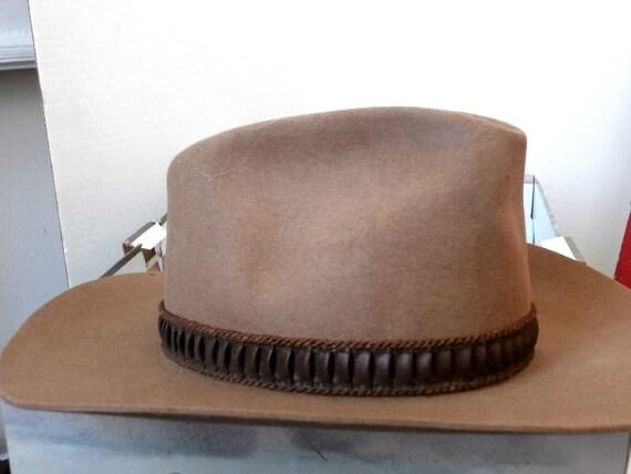 Vtg Stetson Beaver Felt Stampede Hat Unisex Acorn XXX Size 7  8500b58cad7