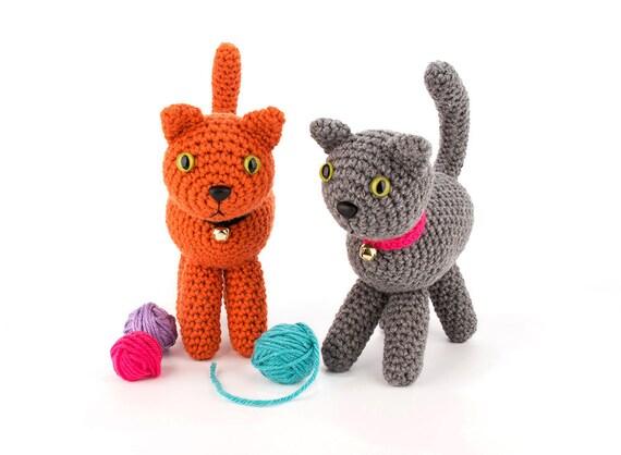 Crochet Pattern Playful Kitten Amigurumi Stuffed Animal Etsy