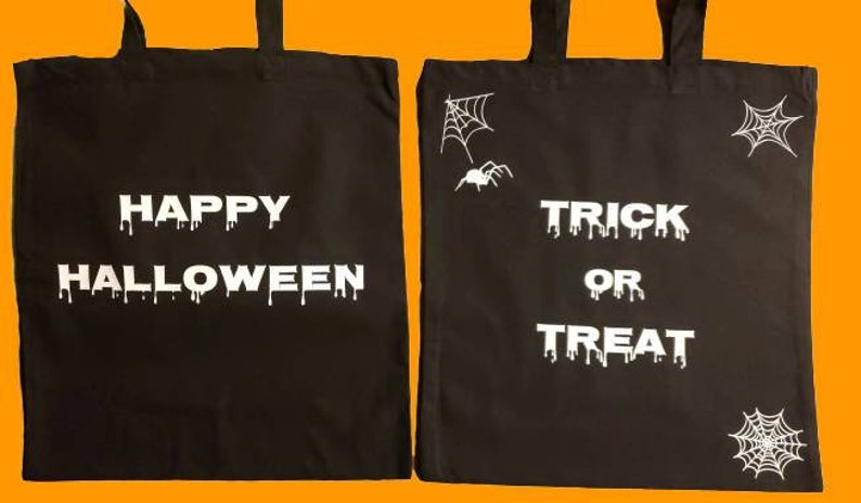 Halloween Canvas Bags Trick or Treat Bags Custom Canvas image 0