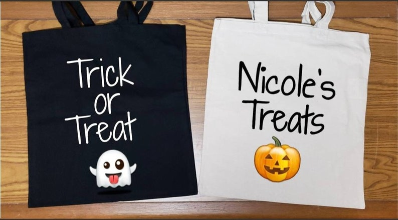 Halloween Canvas Bags Trick or Treat Bags Custom Trick or image 0