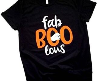Fab Boo lous Halloween Tshirt, FabBooLous Halloween Toddler Tshirt, Kids Halloween Tshirt, Halloween Ghost Tshirt, Halloween, Kids, Tshirt