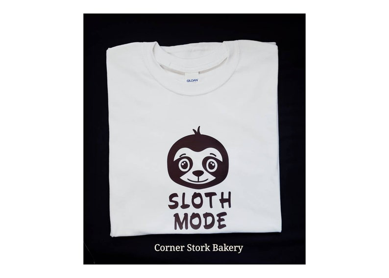 Sloth Mode Shirt Custom Tees Sloth Shirt Birthday Birthday image 0