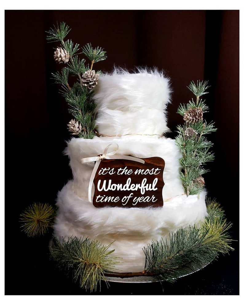 It's The Most Wonderful Time Of The Year Diaper Cake image 0