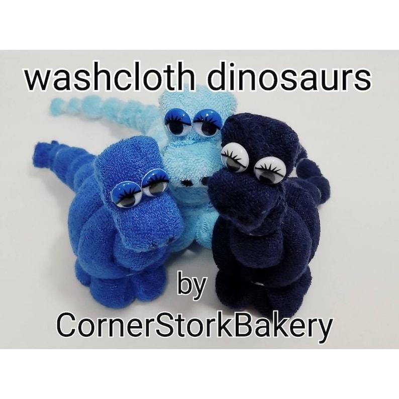 Washcloth Dinosaurs Washcloth Dino Baby Gift Baby Gift Baby image 0