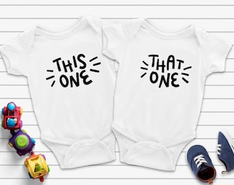 This One That One Matching Twin Bodysuits, This One That One Twin Bodysuits, Twins Baby Gift, Twins Gift, Twin Bodysuits, Twins